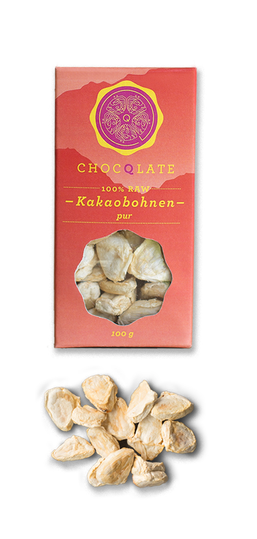CHOCQLATE Raw ČOKO Snack - Kakaové boby PURE 100g, BIO