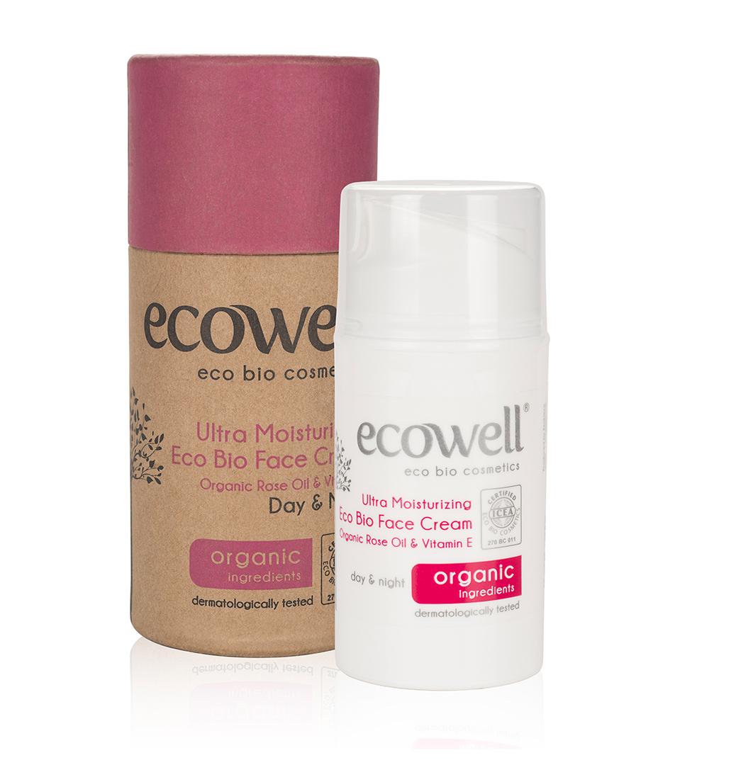 ECOWELL Ultra zvlhčující krém na obličej BIO, 50 ml