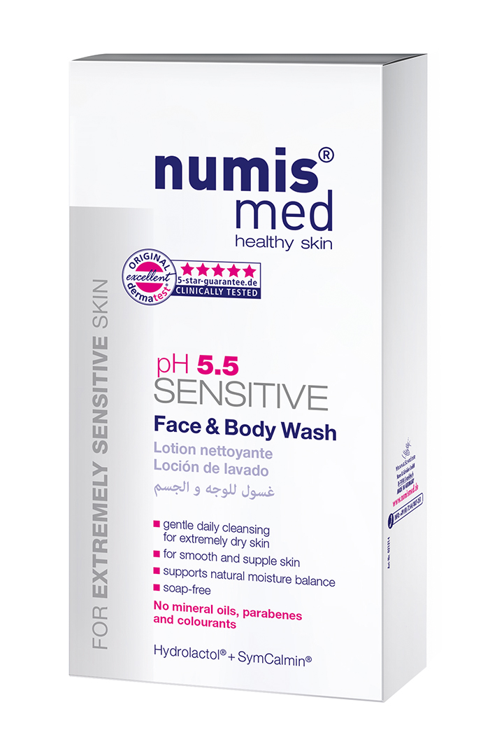 NUMIS MED SENSITIVE PH 5,5 SENSITIVE Pleťový & tělový gel - s dávkovačem 100 ml