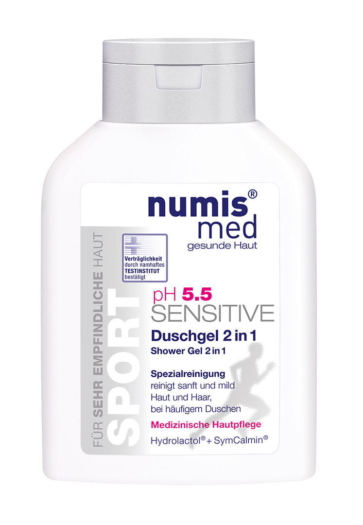 NUMIS MED SENSITIVE PH 5,5  SENSITIVE SPORT Sprchový gel 2v1 200 ml