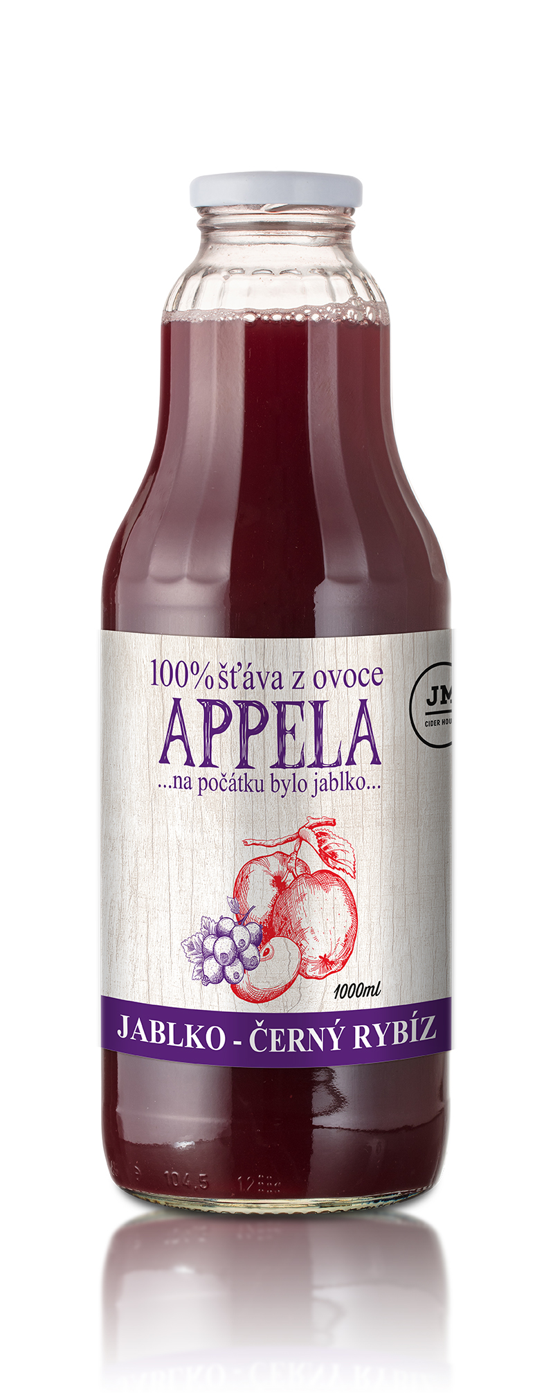Appela, Jablko - černý rybíz 1l