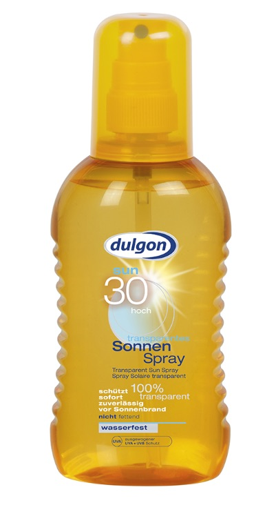 DULGON TRANSPARENT Spray na opalování SPF 30,  200 ml