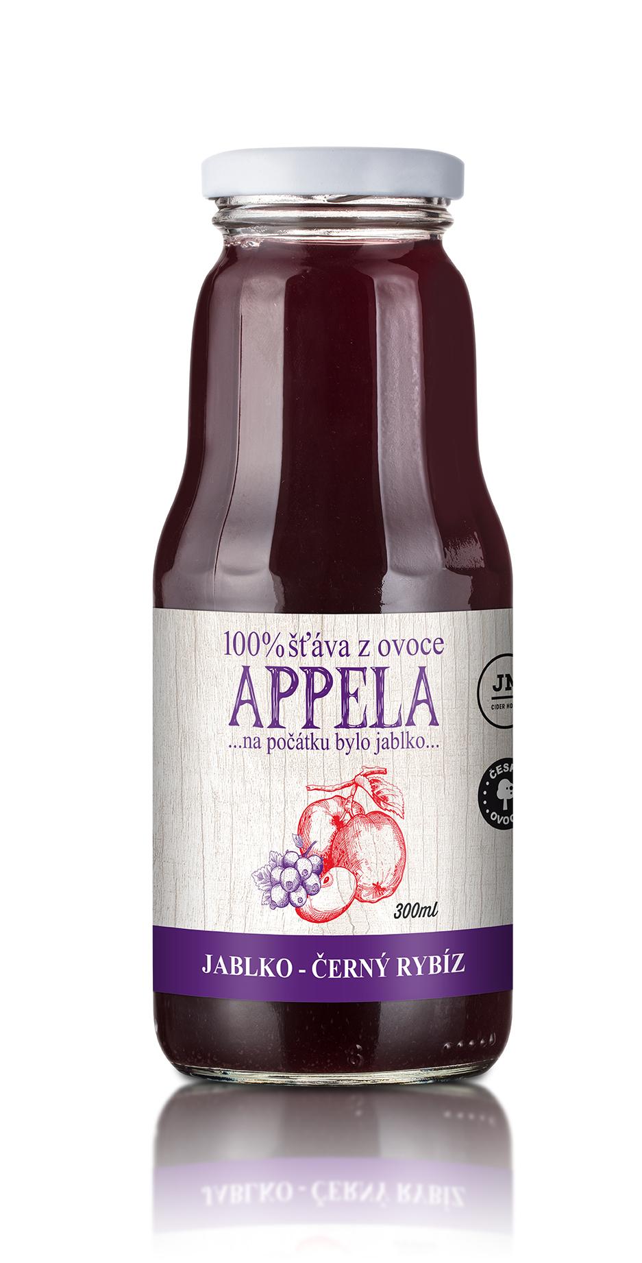 Appela jablko - černý rybíz 0,3l