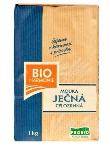 Ječná mouka celozrnná jemně mletá BIOHARMONIE 1 kg