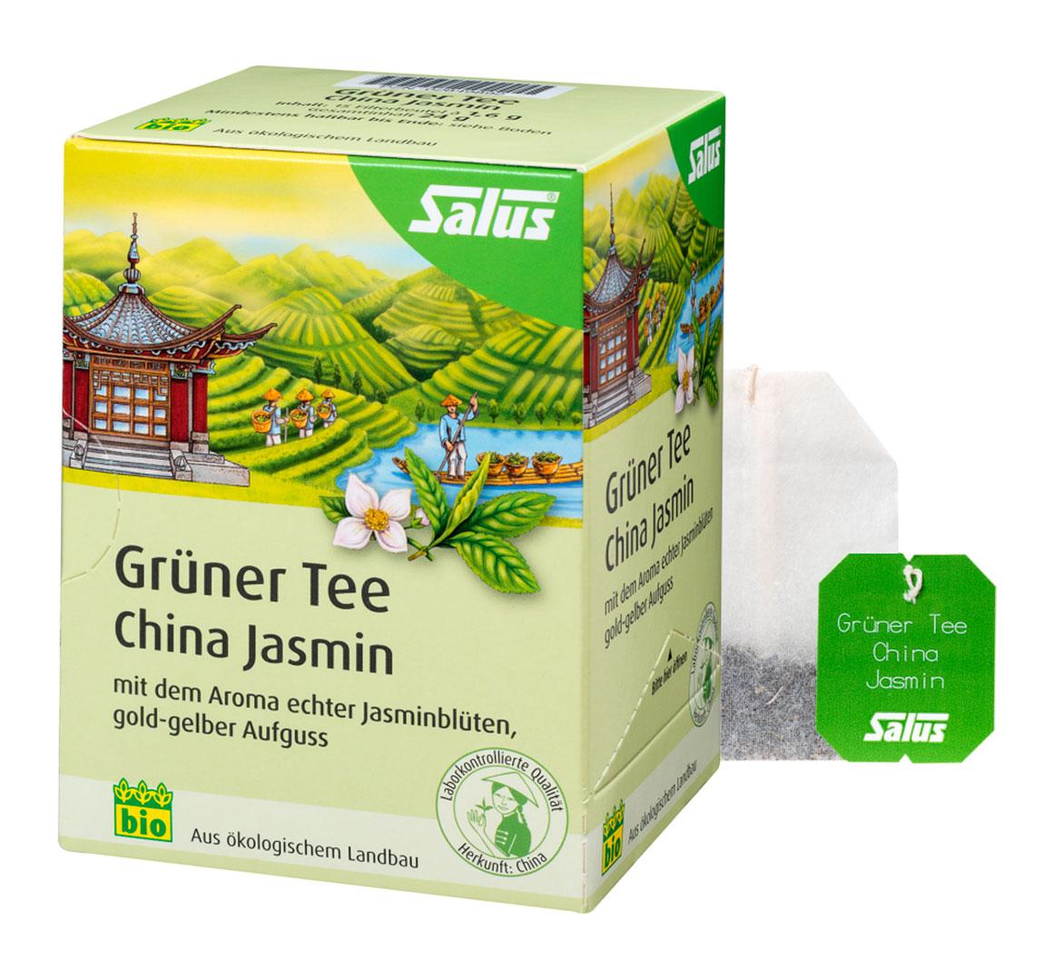 SALUS Zelený čaj čínský s jasmínovými kvítky 15 sáčků