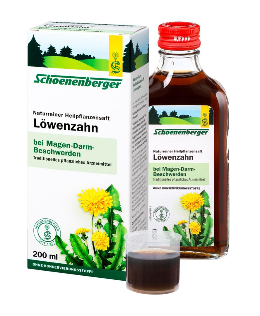 SCHOENENBERGER® Čerstvá rostlinná štáva - Smetánka lékařská 200ml