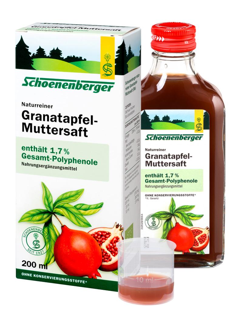 SCHOENENBERGER® BIO Čerstvá rostlinná štáva - Granátové jablíčko 200ml