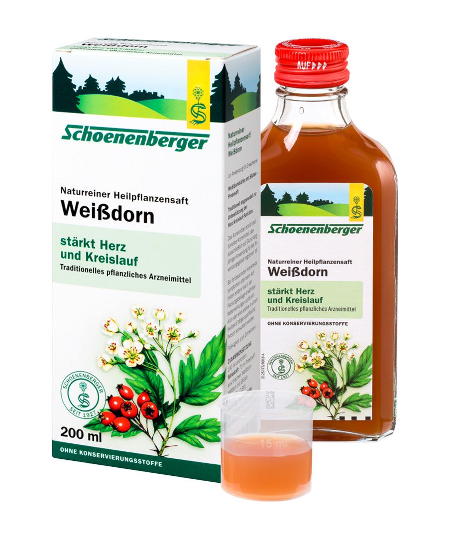 SCHOENENBERGER® Čerstvá rostlinná štáva - Hloh 200ml