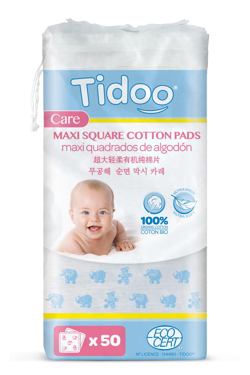 TIDOO BIO/ORGANIC Ultra jemné bavlněné čistící tampony MAXI (50 ks)