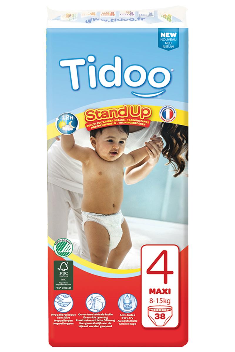 TIDOO Dětské trénovací plenkové kalhotky T4 - MAXI- 8/15kg (38ks)