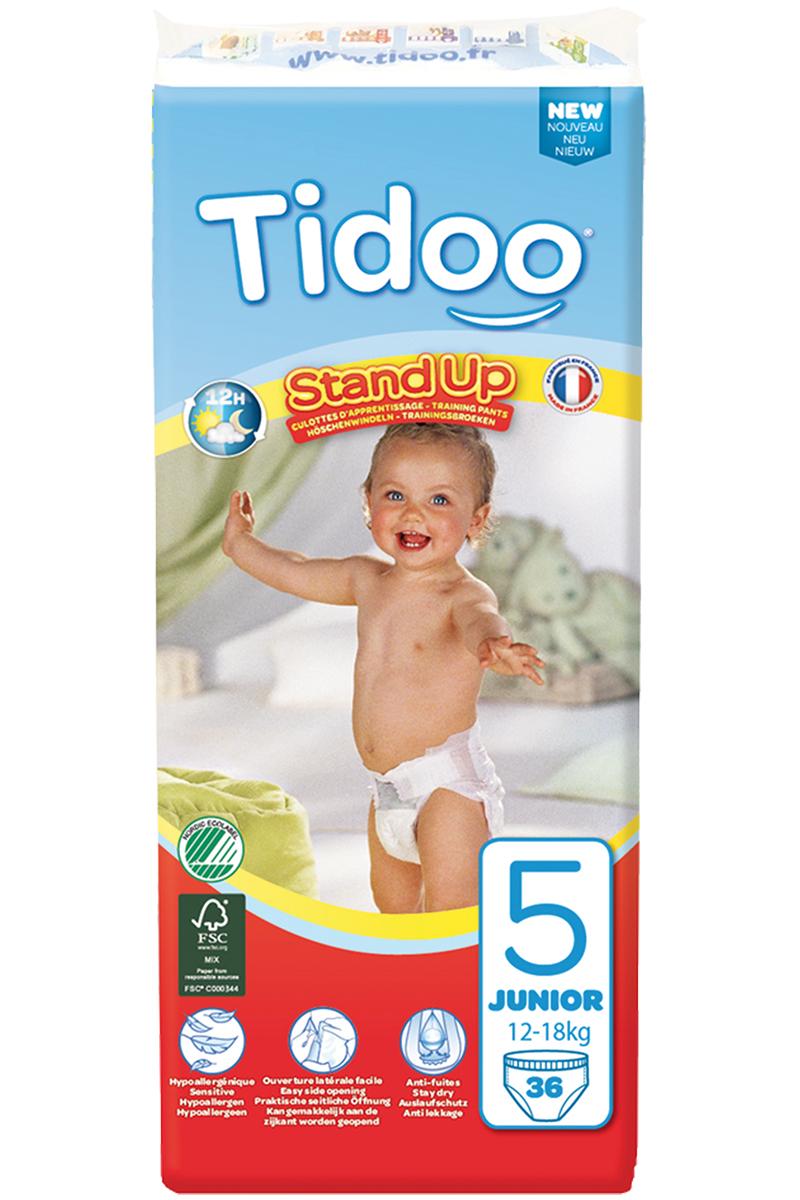 TIDOO Dětské trénovací plenkové kalhotky T5 - JUNIOR- 12/18kg (36ks)