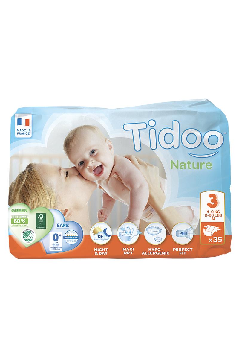 TIDOO Dětské plenky T3 - MIDI - 4/9kg (35ks)