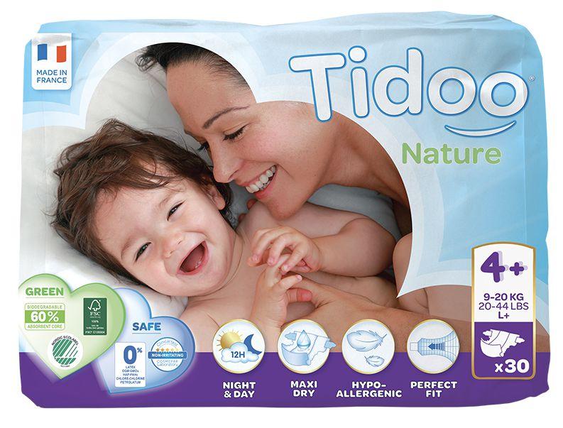 TIDOO Dětské plenky T4+ - MAXI+ - 9/20kg (30ks)