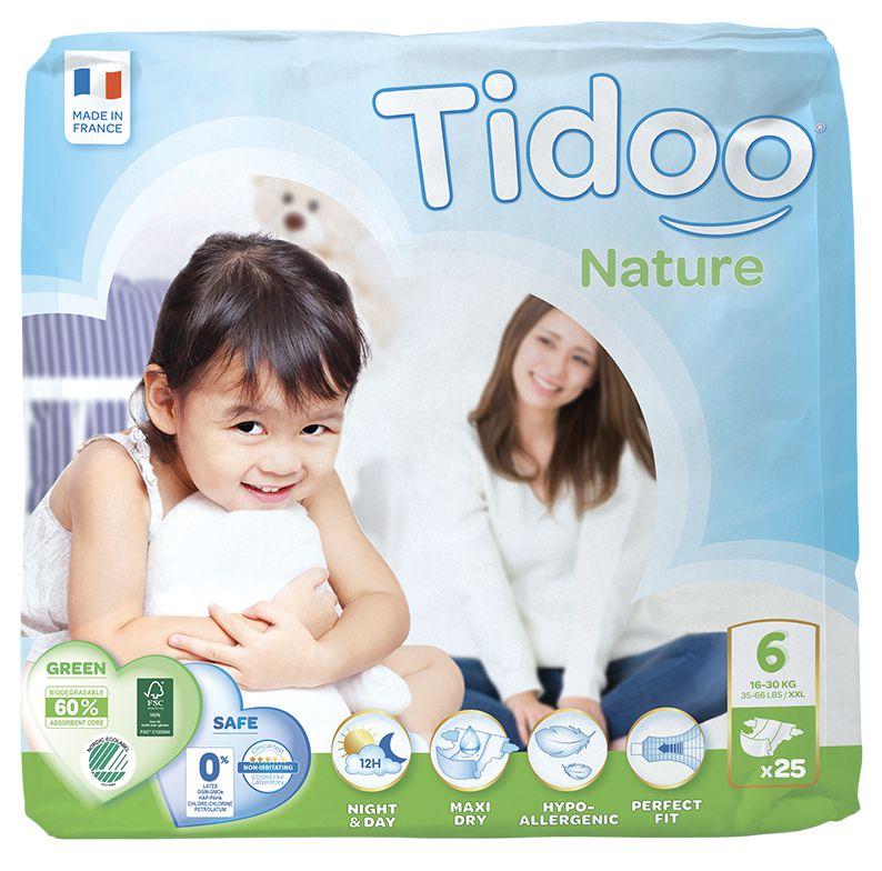 TIDOO Dětské plenky T6 - XL - 16/30kg (25ks)