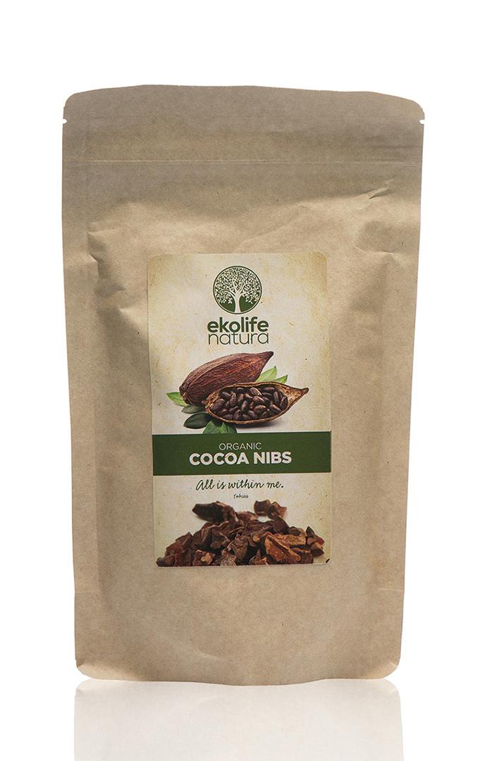 EKOLIFE NATURA Kakaové boby 250g
