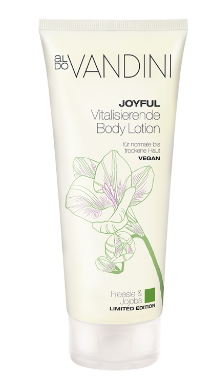 ALDO VANDINI JOYFUL tělový lotion Frézie & jojoba 200 ml / limit. Edice