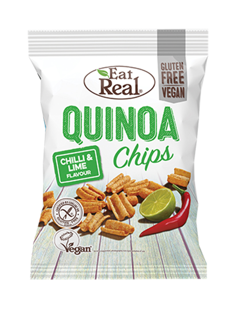 EAT REAL QUINOA CHIPSY – CHILLI A LIMETKA 30G