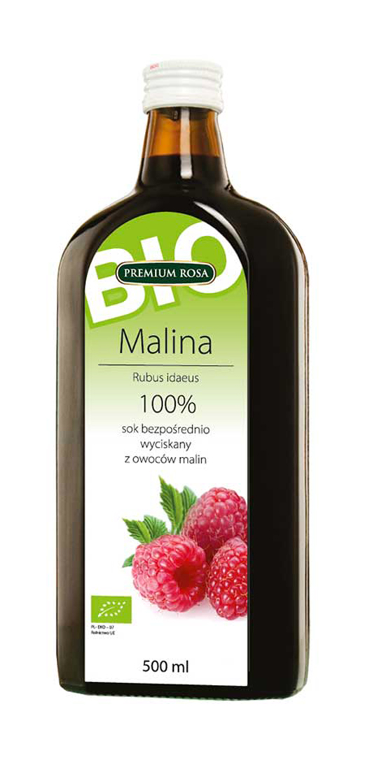 PREMIUM ROSA 100% BIO/ORGANIC mošt - Malina 500ml