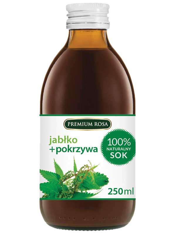 PREMIUM ROSA Posilující nápoj z léčivých rostlin s přídavkem jablečné šťávy - Kopřiva 250ml