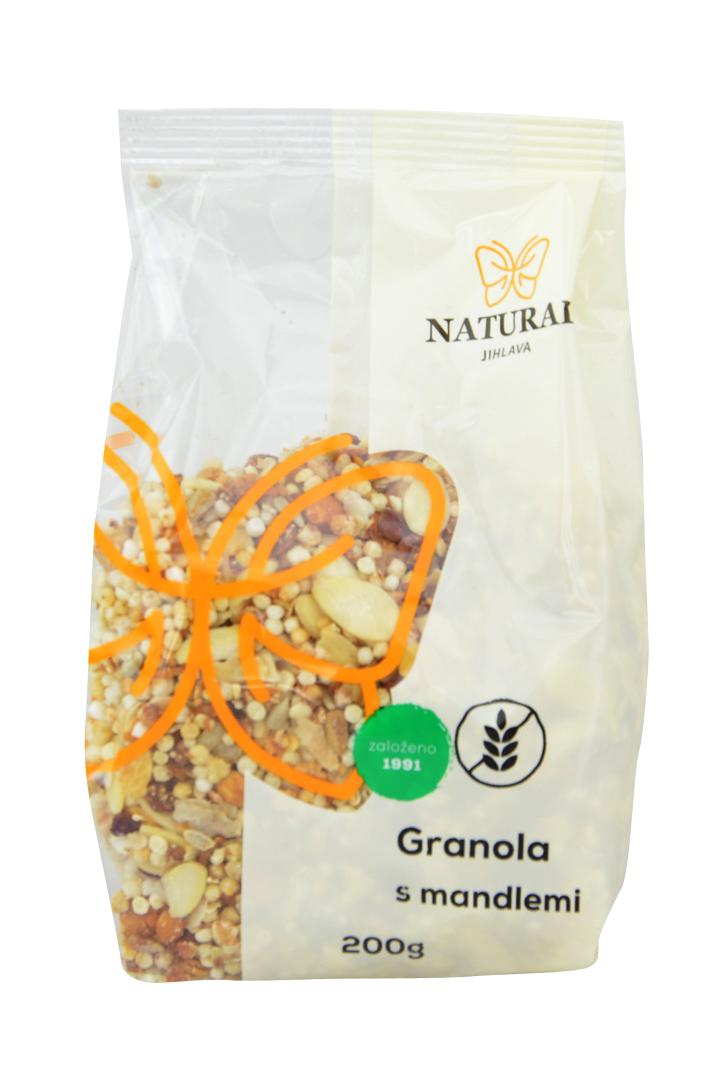 Granola s mandlemi bezlepková Natural 200 g