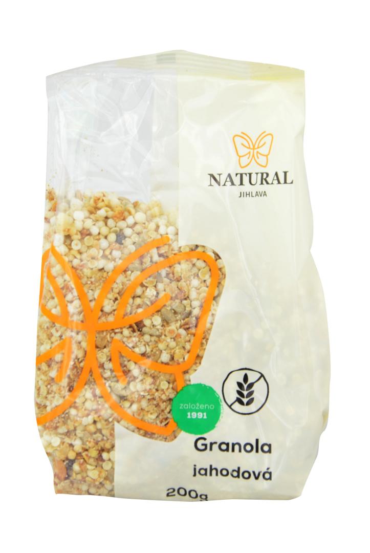 Granola jahodová bezlepková Natural 200 g