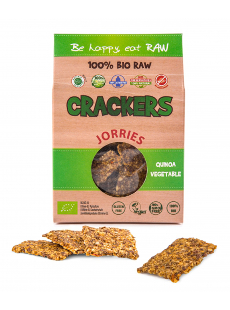 JORRIES CRACKERS - Quinoa, zelenina 50 g - BIO, RAW