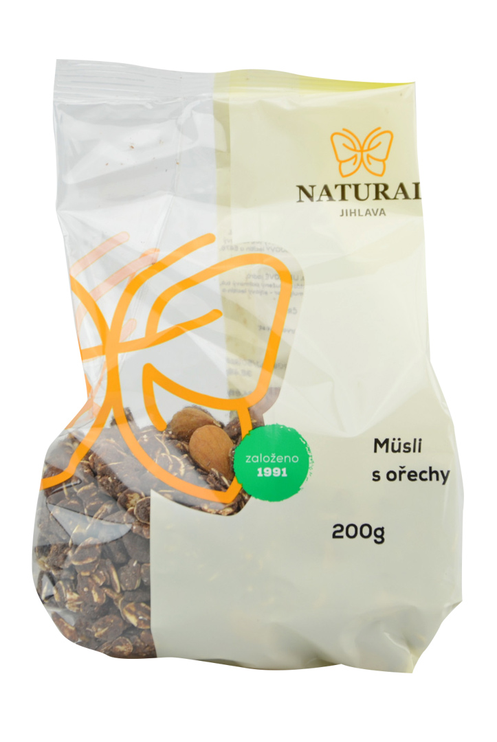 Müsli čoko s ořechy Natural 200 g