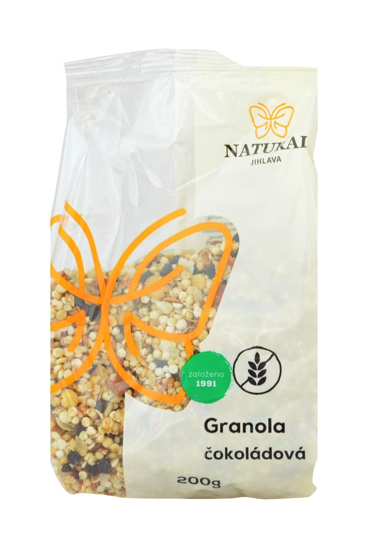 Granola čokoládová bezlepková Natural 200 g