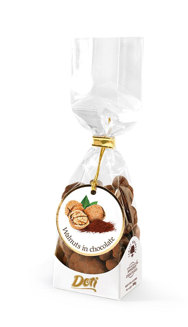 DOTI Vlašské ořechy v čokoládě a kakau - dárkový sáček 100g