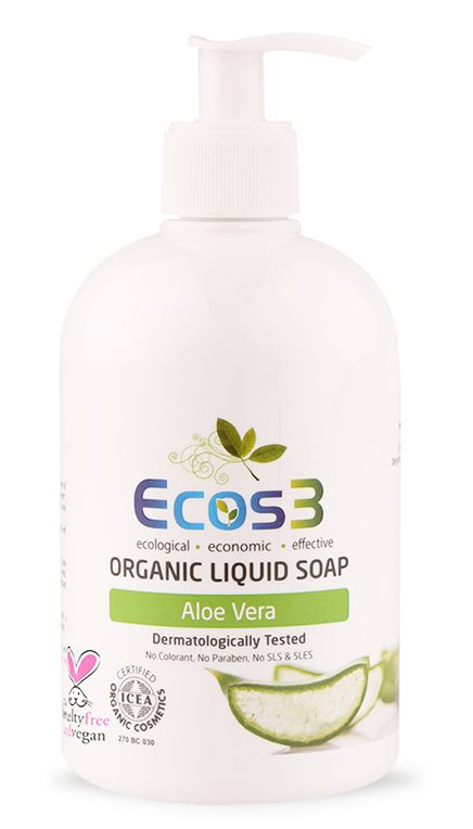 ECOS3 Organické tekuté mýdlo 500ml - ALOE VERA