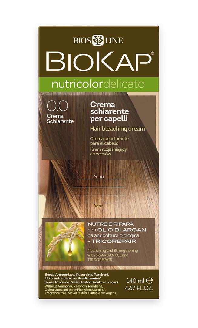 BIOKAP NUTRICOLOR DELICATO - Barva na vlasy - 0.0 Zesvětlovač 140 ml