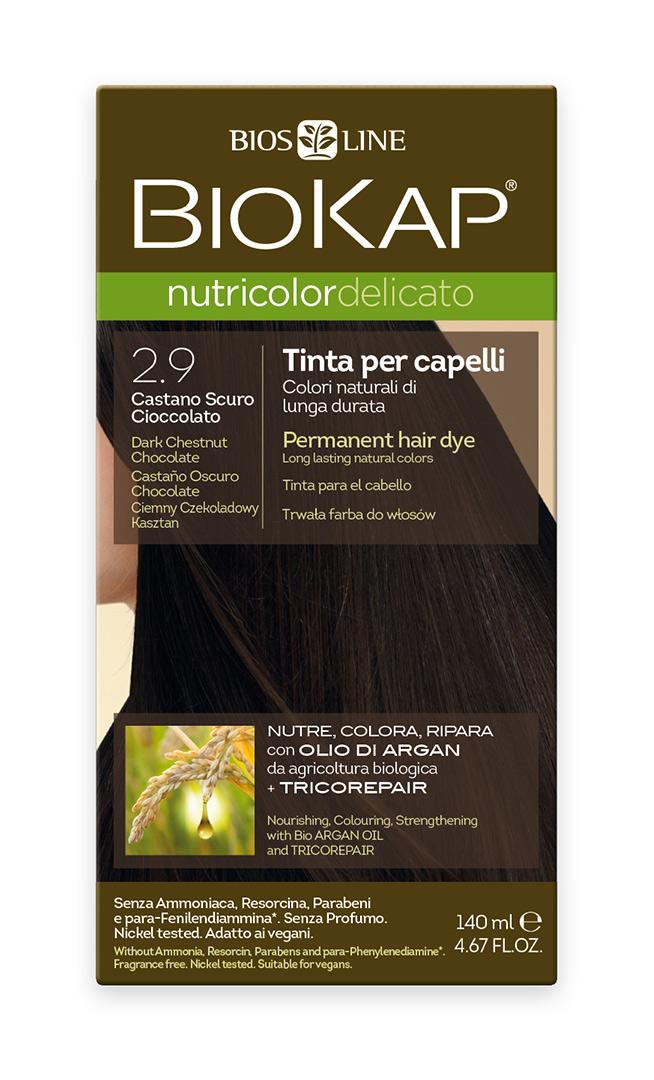 BIOKAP NUTRICOLOR DELICATO - Barva na vlasy - 2.90 Kaštanovo čokoládová tmavá 140 ml