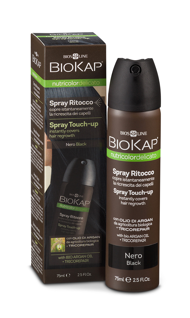 BIOKAP Nutricolor Delicato Spray Touch Up  - Černá - 75 ml